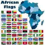 African flag set — Stock Vector #55516093