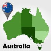 Australia political map — Stock Vector