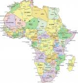 Africa political map — Stock Vector