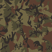 US Woodland camouflage pattern. — Stock Vector