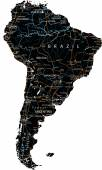 South America road map — Stock Vector