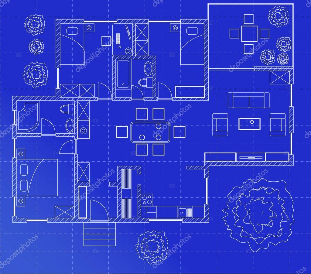 Schizzo della planimetria di una casa vettoriali stock for Planimetria di una casa
