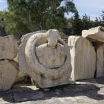 Bust of Roman Emperor Marcus Aurelius in the archaelogical site  — Stock Photo #64995353
