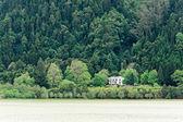 Lago verde de furnas são miguel, Açores, portugal — Fotografia Stock