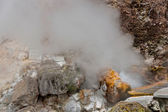 Geothermal hot water in Furnas on the island of Sao Miguel — Stock Photo