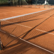 Clay (Dirt) Tennis Court. — Stock Photo #58442381
