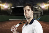 Tennis Player. — Stock Photo