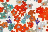 Texture of Flower Batik — Stock Photo