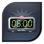 Icono de reloj despertador — Vector de stock