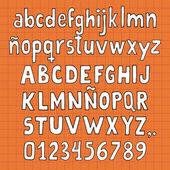 Alphabet handmade — Stock Vector