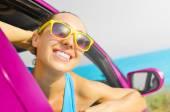Piloto de mujer feliz — Foto de Stock