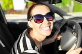 Car driver happy — Stock Photo