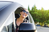 Car driver happy — Stock Photo