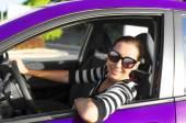 Car driver happy — Foto de Stock