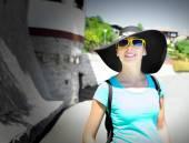 Girl tourist — Stock Photo