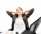 Business woman is relaxing — Stock Photo