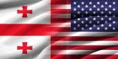 美国和格鲁吉亚. — 图库照片