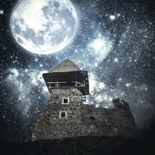 Mysterious medieval castle. — Stock Photo