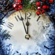 Christmas Eve and New Years at midnight — Stock Photo #59372227