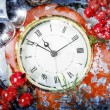 Christmas Eve and New Years at midnight — Stock Photo #59372293