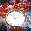 Christmas Eve and New Years at midnight — Stock Photo #59372365