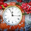 Christmas Eve and New Years at midnight — Stock Photo #59372389