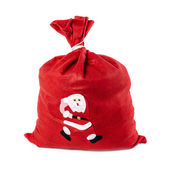 Santa Claus red bag — Stock Photo