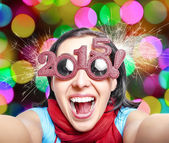 Two thousand and fifteen. New Years concept. — Foto Stock