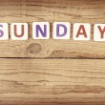 The word SUNDAY — Stock Photo #65174591