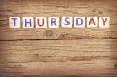 The word THURSDAY — Fotografia Stock