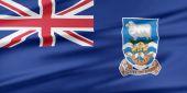 Falkland Islands Flag. — Stock Photo