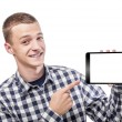 Young man using tablet pc — Stock Photo #77551040