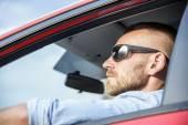 Man in car. — Stock Photo