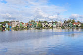 Zaanse Schans. Amazing Dutch village. — Stock Photo