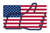 I like United States - thumb up — Stock Photo