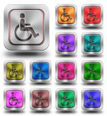 Accessibility aluminum glossy icons, crazy colors — Stock Photo