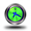 Clock glossy icon — Stock Photo #61832869