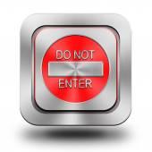 Geef geen aluminium glanzend pictogram, knop, teken — Stockfoto