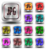 JPG aluminum glossy icons, crazy colors — ストック写真