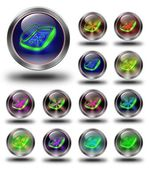 Phone Glossy metallic buttons. — 图库照片