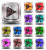 Skip aluminum glossy icons, crazy colors — Stock Photo
