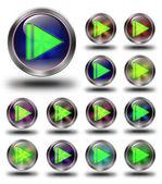 Skip glanzende pictogrammen, gekke kleuren — Stockfoto