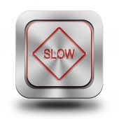 Slow aluminum glossy icon, button, sign — Stock Photo