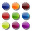Web buttons glossy- round. — Stock Photo #61840769