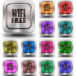 WIFI Free aluminum glossy icons, crazy colors — Stock Photo #61843131