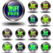 WIFI Free glossy icons, crazy colors — Stock Photo #61843219