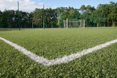 Green turf of football stadium — Stock Photo