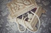 Bruiloft decorlibro de lectura chico — Stockfoto
