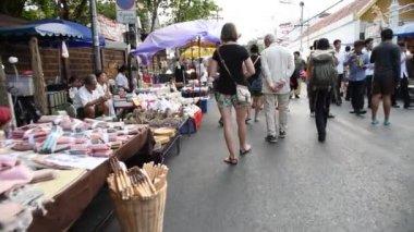 Walking street market. — Stock Video