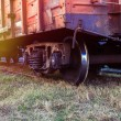 Rail freight car close-up — Stock Photo #75900863
